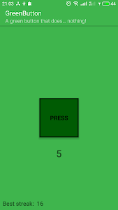 screenshot of GreenButton - Another button doing nothing! version 1.0-green