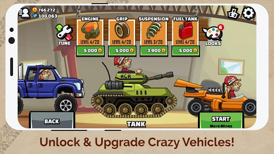 screenshot of Hill Climb Racing 2 version 1.26.2