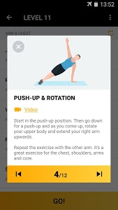screenshot of Home Workout for Men - Bodybuilding version 1.0.12