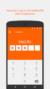 screenshot of ING Banking to go version Varies with device