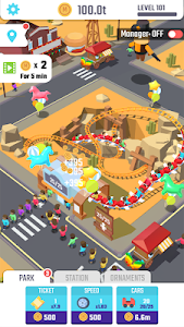 screenshot of Idle Roller Coaster version 1.5.0