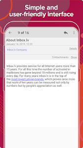 screenshot of Inbox.lv version 6.5.77