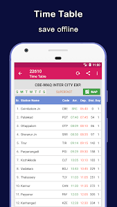 screenshot of Indian Railway Train Status version Varies with device