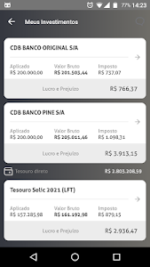screenshot of Investimentos version 2.5
