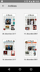screenshot of Journal Le Monde version Varies with device