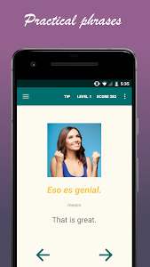 screenshot of Learn Spanish with SpeakTribe version 2.5.10