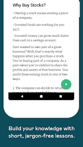 screenshot of Learn: how to invest in stocks version 2.3.0