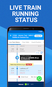 screenshot of Train Running Status, PNR Status Enquiry & Tickets version 3.6.8