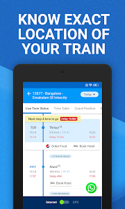 screenshot of My Train: Live Status, IRCTC PNR Status & Tickets version 3.7.0