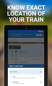 screenshot of My Train: Live Status, IRCTC PNR Status & enquiry version 3.7.0