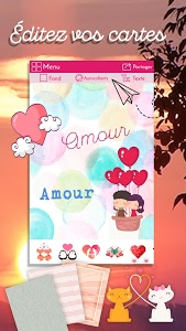 screenshot of Love Messages in French – Text Editor & Stickers version 2632 v13