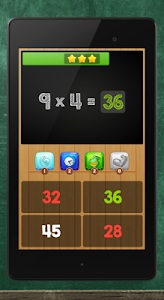 screenshot of Multiplication Table Kids Math version Varies with device