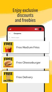 screenshot of McDelivery PH version 2.4.29-20191209-271-PR