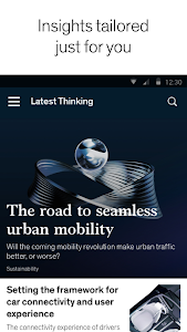 screenshot of McKinsey Insights version Varies with device
