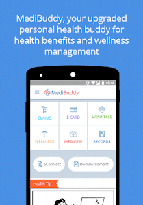 screenshot of MediBuddy - Platform for Cashless Healthcare version 2.8.12