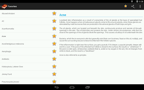 screenshot of Medical Terminology Dictionary:Search&Vocabulary version Varies with device