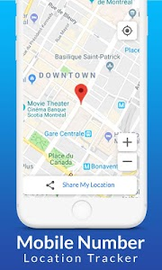 screenshot of Mobile Number Location Tracker version 6.0