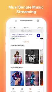 screenshot of Musi : Simple Music Streaming Advice 2019 version 1.9