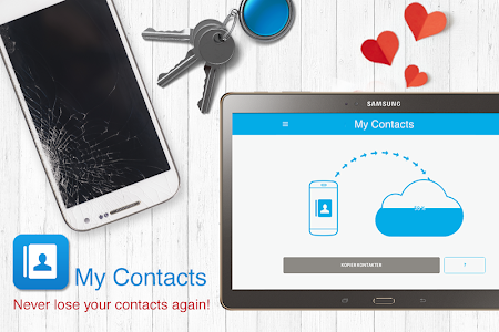 screenshot of My Contacts - Phonebook Backup & Transfer App version 8.1.0