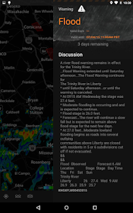screenshot of MyRadar Weather Radar version 7.4.16