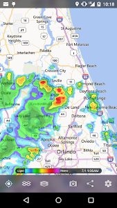 screenshot of MyRadar Weather Radar version 7.4.14