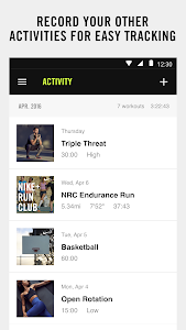 screenshot of NIKE+ TRAINING CLUB version 5.0.0