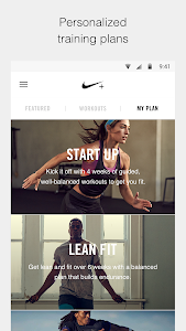screenshot of Nike+ Training Club version 5.5.3