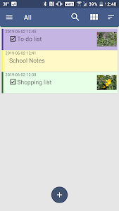 screenshot of Notes - Notepad, Memo version 1.1