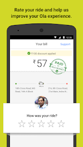 screenshot of Ola cabs - Taxi, Auto, Car Rental, Share Booking version 4.7.2