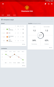 screenshot of Onefootball Live soccer scores version 8.6.0