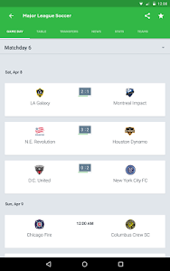 screenshot of Onefootball Live Soccer Scores version 9.4.0