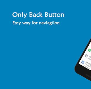 screenshot of Only Back Button - Single touch back button version 1.43FS