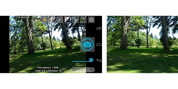 screenshot of Open Camera version 1.32.1