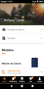 screenshot of Orange et moi France version 5.6.0