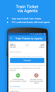screenshot of Live Train Status, PNR Status & Indian Rail Info version 3.5.4