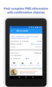 screenshot of PNR Status & Indian Rail Info version 3.2.2