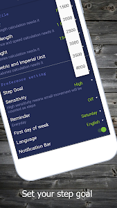 screenshot of Pedometer App version 10.1.2