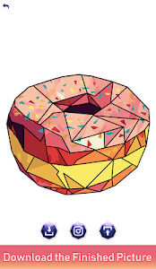 screenshot of Poly Art: Paint by Sticker, Color by Number Puzzle version 2.4