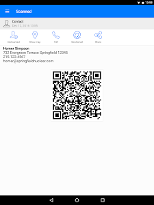 screenshot of QR Code Reader version 1.2.6