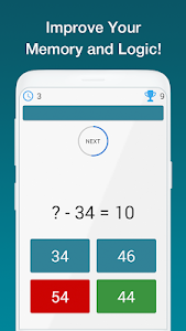 screenshot of Math Exercises for the brain, Puzzles Math Game version 2.3.5
