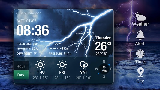 screenshot of Real-time weather forecasts version 14.0.0.4230_4280