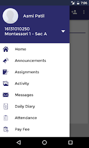screenshot of Ryan Parent Portal version 1.11.9
