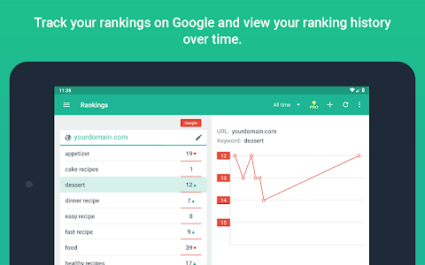 screenshot of SEO SERP mojo - Rank Tracker version 2.35