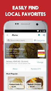 screenshot of Seamless: Restaurant Takeout & Food Delivery App version 7.62