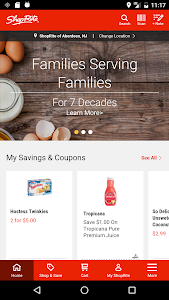 screenshot of ShopRite App version 3.2.0