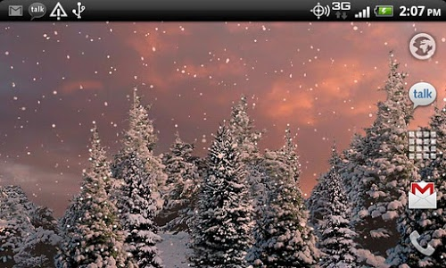 screenshot of Snowfall Free Live Wallpaper version Varies with device