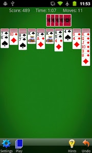 screenshot of Spider Solitaire version 3.0.3