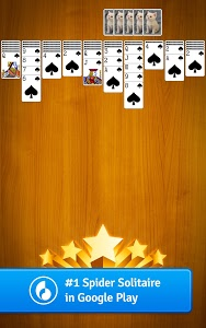 screenshot of Spider Solitaire version Varies with device