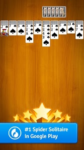 screenshot of Spider Solitaire version 3.4.0.125