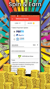 screenshot of Spin and Earn : Luck by Spin version 1.0
